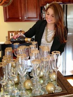 Jackie Fo: New Years Eve DIY: How to sugar your champagne flute rims