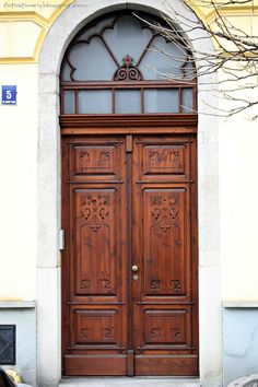 old door in Cieszyn, Poland
