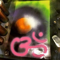 A personal favorite from my Etsy shop https://www.etsy.com/listing/278543514/ohm-spray-art