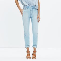 The Perfect Summer Jean in Fitzgerald Wash : crop, straight & demi-boot jeans | Madewell