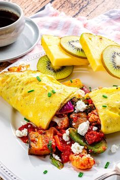 Dairy-Free Ratatouille Omelets Recipe - Gluten-Free, Grain-Free, Paleo and Healthy! Also Delicious ... Is Egg Dairy, Dairy Free Cheese, Cheesy Sauce, Ratatouille, Brunch Recipes, Grain Free, Gluten Free Recipes, Paleo, Stuffed Peppers
