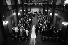 Fancy wedding at One King West in the City of Toronto.  Shots of the venue, couple and the Bank Vaults.