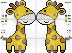 Giraffe x-stitch