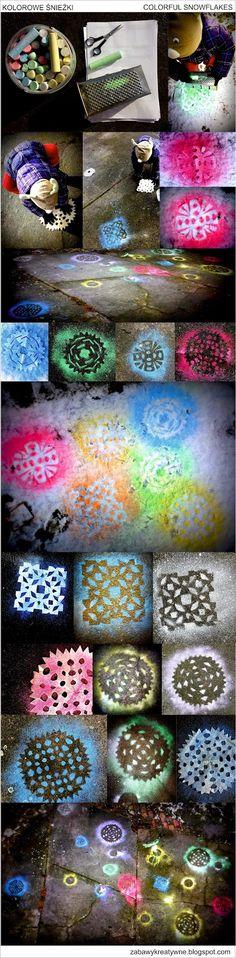 Zabawy kreatywne: Kolorowe śnieżki