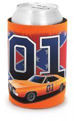 Can Koozie 01/General Lee With Flag (Orange)