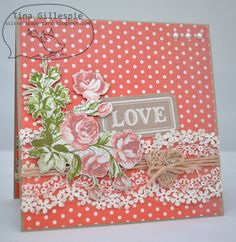 Wedding card using Stampin' Up!'s Artisan Embellishment Kit Art Pages, Creative Cards, Anniversary Cards, Wedding Cards, Embellishments, Stampin Up, Artisan, Valentines, Ads