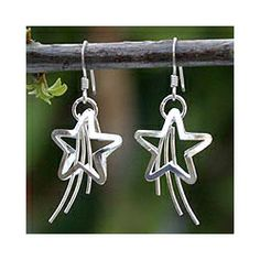 Sterling Silver 'Shooting Stars' Earrings (Thailand)
