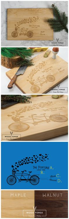 Personalized Cutting Board Engraved Cutting Board by woodforgeshop