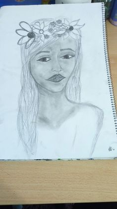 """""""Spring.."""" /My work /face /drawing /pencil /by El."""