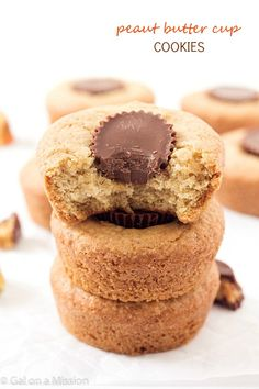 Peanut Butter Cup Cookies - Incredibly moist cookies, then topped with a mini Reese's cup! Does not need to be chilled!