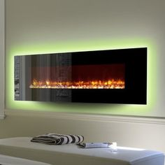 Enjoy the look of beautiful flames dancing across the Dynasty Contemporary Electric Fireplace LED Wall Mount – 78 in. This electric fireplace. Wall Mounted Fireplace, Bedroom Fireplace, Fireplace Inserts, Wall Fireplaces, Fireplace Furniture, Contemporary Electric Fireplace, Natural Stone Fireplaces, Home Theater Decor, Wall Mount Electric Fireplace