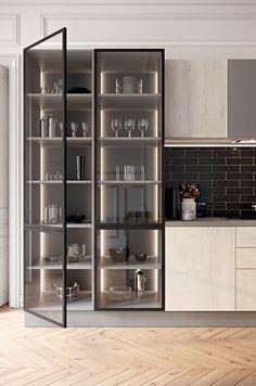 Luxury Kitchen Design, Kitchen Room Design, Home Room Design, Kitchen Cabinet Design, Luxury Kitchens, Home Decor Kitchen, Modern House Design, Interior Design Kitchen, Modern Interior Design