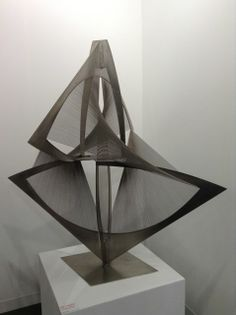 Torsion, Variation c. 1974/75. Naum Gabo. #artbasel #basel2014 #Sculpture