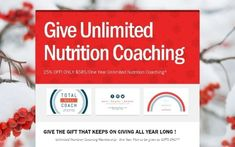 Give Unlimited Nutrition Coaching by Total Well Coach - Joyce Strong, RN, BSN, CWC, CSCS on Sunday, December 17.