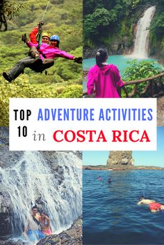 Looking for adventure during your trip to Costa Rica? Here are the top 10 adventure activities you can't miss! http://mytanfeet.com/activities/adventure-activities-in-costa-rica/