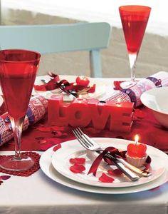 decoracion cena mesa san valentin