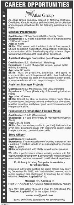 Pakistan International Airlines PIA Jobs 2017 In Karachi For - store officer sample resume