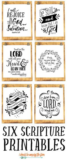 Six Beautiful Scripture Printables These six black and white scripture printables are the perfect addition to any decor. Scripture Art, Bible Art, Bible Quotes, Scripture Cookies, Free Printable Scripture, Chalkboard Scripture, Printable Quotes, Bible Scriptures, Diy Décoration