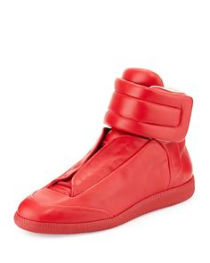 reputable site 15700 251db Future High-Top Sneaker, Red - Maison Margiela