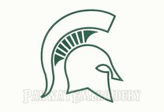 9 Size Michigan State Spartans Applique by PanwatEmbroidery