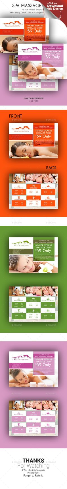 bamboo, beauty, body care, brochures, candles, chiropractic, clean design, flyer, health, massage, medical spa, mini brochure, natural, naturalistic, pilates, pocket, prenatal massage, reflexology, relaxation, seven, spa, spa branding, spa identity, square brochure, templates, therapy, wellness, yoga  This Spa Massage Flyer Template created with Photoshop for the spa and massage industry. Can also be edited and used for the healthcare industry. All text, colors, images, fonts are…