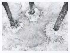 The Three Weird Sisters - 12 x 16 pencil on paper by RachelmBray, via Flickr