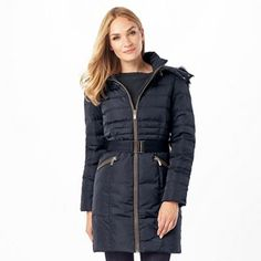 Phase Eight Fur Trim Paula Puffer | Debenhams