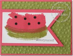 Stampin up Watermelon Work of Art & @Sosocial stamp sets #stampinup