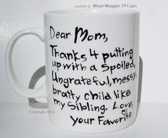 Mother's Day Mug - too funny!