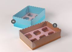 Caja para 6 cupcakes - SelfPackaging