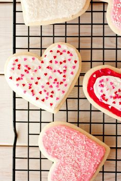 For Valentine's Day - like CK's cream  cheese cutouts (decoration only)