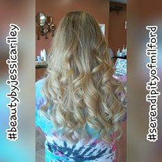 Blonde hair ombre highlights balayage #beautybyjessicariley #serendipityofmilford