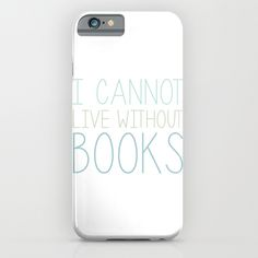 I Cannot Live Without Books - White background iPhone & iPod Case