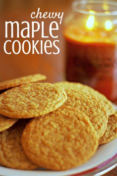 favorite christmas cookies Weihnachtspltzchen If you love maple syrup you will love these chewy maple cookies. Theyre perfect with a cup of tea or coffee. Theyre a favorite Christmas cookie for our family and I think you will enjoy them too! Köstliche Desserts, Delicious Desserts, Dessert Recipes, Yummy Food, Dessert Food, Maple Syrup Cookies, Baking Recipes, Cookie Recipes, Biscuits