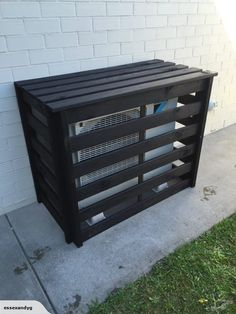 Ac Unit Cover, Ac Cover, Air Conditioner Cover Outdoor, Diy Cupboards, Small Outdoor Spaces, Balcony Design, Heat Pump, Home And Living, Home Projects