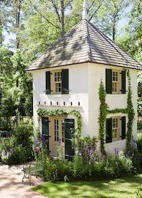 Playhouse - love the ivy! Painted or faux for indoors?