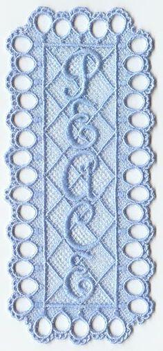 Peace Bookmark (Lace)