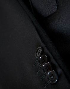 Traje de lana virgen 100% negro - tak, Básico para hombre