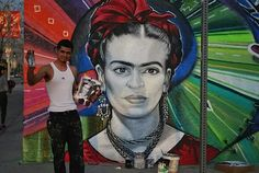 Levi Ponce, awesome muralist from the San Fernando Valley