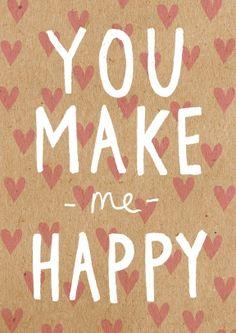Make Me Happy! Romantic Valentines Card #valentine #anniversary #love
