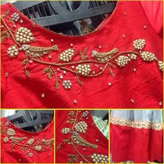 maroon designer blouse whatsapp on 919511613559 to order the outfit Salwar Designs, Saree Blouse Designs, Blouse Styles, Maggam Work Designs, Indian Blouse, Indian Wear, Blouse Models, Work Blouse, Embroidered Blouse
