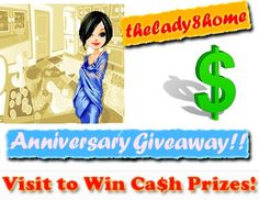 TheLady8Home Anniversary giveaway