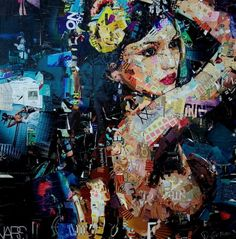 Collage Artwork by Derek Gores ...... imagine making art like this out of recycled magazine paper!