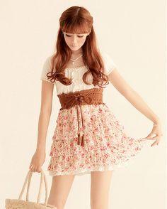 Dress Dress Dress Summer Women Floral Slim Japanese Dress ---> follow stephany medina :>