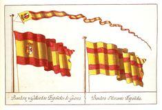 Reproducción de la lámina con las banderas elegidas por Carlos III en 1785