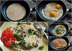 "How to: Tortilla Egg & Herb Breakfast ""Things""."
