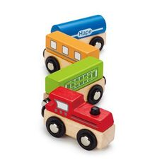 Hape Toys Magnetic Classic Train - This colorful wooden train set encourages counting, color identification, story-telling and im Hape Toys, Sports Games For Kids, Eco Friendly Toys, Wooden Train, Interactive Toys, Toys Online, Niece And Nephew, Imaginative Play, Old Toys
