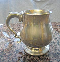 Sheffield English pewter mug for sale at More Than McCoy at http://www.morethanmccoy.com