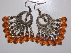 Topaz Gold Chandelier Earrings by EriniJewel on Etsy