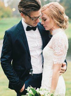 High neck lace sleeve wedding dress: http://www.stylemepretty.com/2015/11/25/english-inspired-autumn-wedding-inspiration/   Perry Vaile - http://www.perryvaile.com/   Perry Vaile - http://www.perryvaile.com/